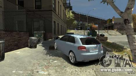 Audi S3 2009 for GTA 4 back left view