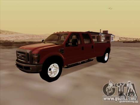 Ford  F350 Super Duty for GTA San Andreas back left view