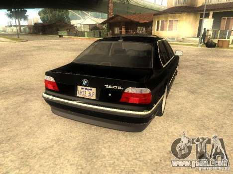 BMW 750iL for GTA San Andreas side view