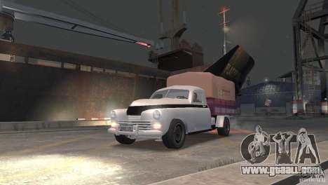 GAZ M20 Pickup for GTA 4 back left view