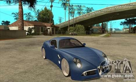 Alfa Romeo 8C Competizione for GTA San Andreas back view