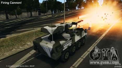 Stryker M1128 Mobile Gun System v1.0 for GTA 4 upper view