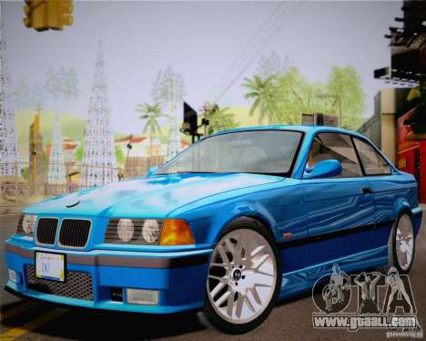 BMW M3 E36 New Wheels for GTA San Andreas back left view