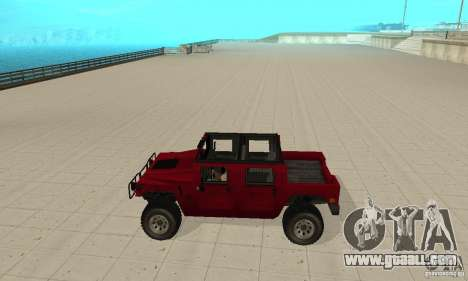 Hummer Civilian Vehicle 1986 for GTA San Andreas left view