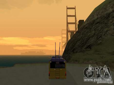 Trolleybus LAZ e-183 for GTA San Andreas back left view