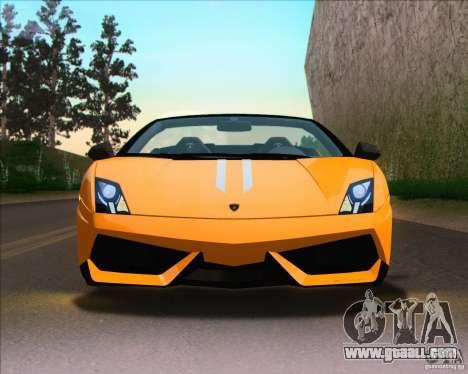Lamborghini Gallardo LP570-4 Spyder Performante for GTA San Andreas right view