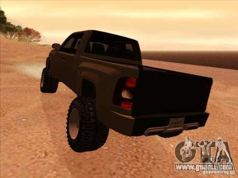 Chevrolet Silverado ZR2 for GTA San Andreas right view