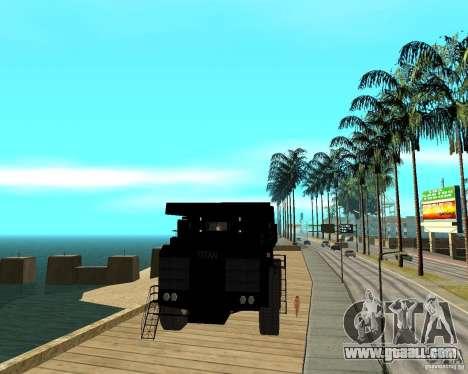 Dumper for GTA San Andreas back view