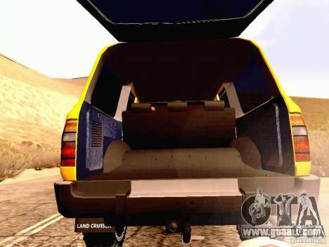 Toyota Land Cruiser 80 Off Road Rims for GTA San Andreas inner view