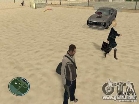 Pedy with bags and phones for GTA San Andreas