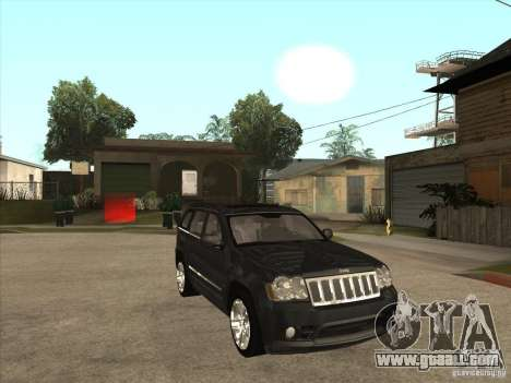 Jeep Grand Cherokee SRT8 for GTA San Andreas back view