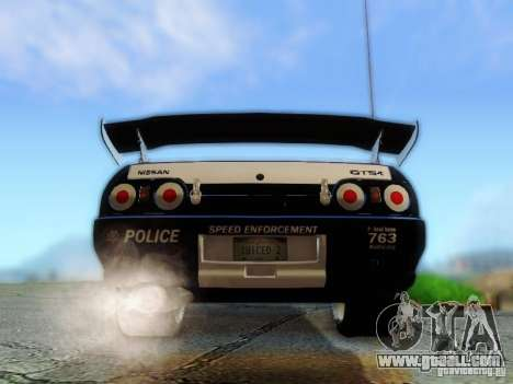 Nissan Skyline R32 Police for GTA San Andreas inner view