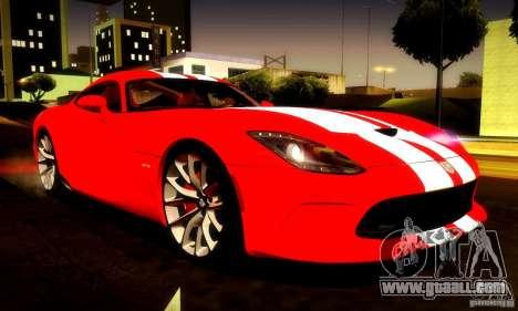 Dodge Viper SRT  GTS for GTA San Andreas bottom view