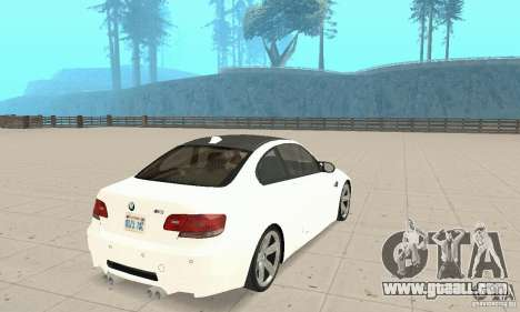 BMW M3 2008 for GTA San Andreas right view