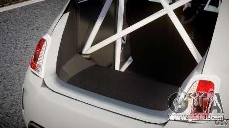 Fiat 500 Abarth for GTA 4 interior