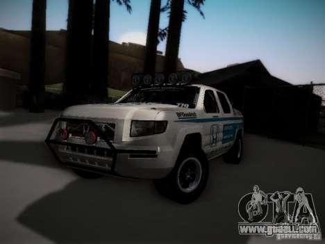 Honda Ridgeline Baja White for GTA San Andreas back left view