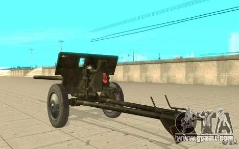 Gun ZiS-2 for GTA San Andreas back left view
