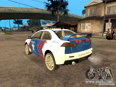Mitsubishi Lancer X Police Indonesia for GTA San Andreas left view