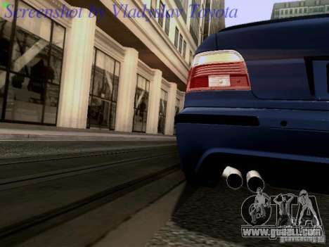 BMW E39 M5 2004 for GTA San Andreas upper view