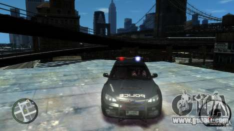 Subaru Impreza WRX STI Police for GTA 4 right view