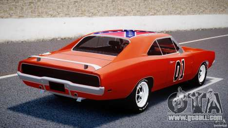 Dodge Charger General Lee 1969 for GTA 4 back left view