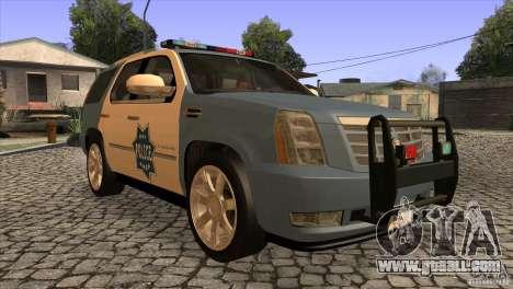 Cadillac Escalade 2007 Cop Car for GTA San Andreas back view