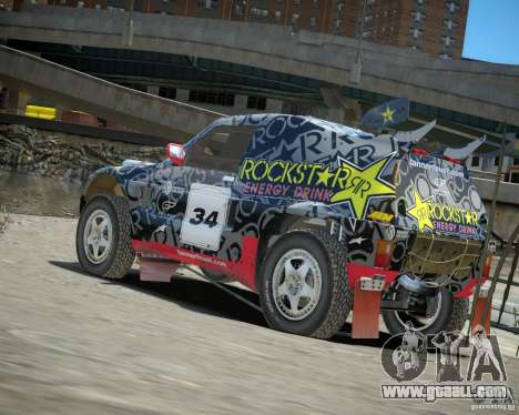 Mitsubishi Pajero Proto Dakar EK86 vinyl 1 for GTA 4 back left view