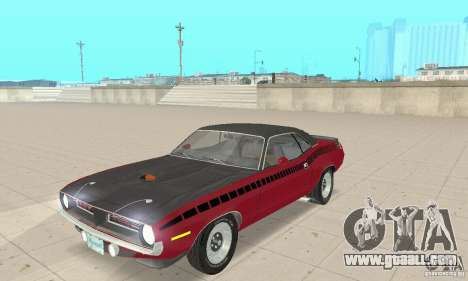 Plymouth Cuda AAR 340 1970 for GTA San Andreas