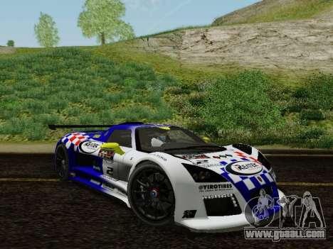 Gumpert Apollo S 2012 for GTA San Andreas upper view