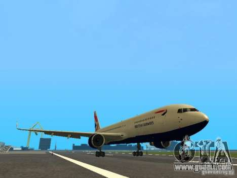 Boeing 767-300 British Airways for GTA San Andreas left view
