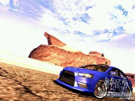 Mitsubishi Lancer EVO X Juiced2 HIN for GTA San Andreas left view