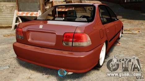 Honda Civic iES for GTA 4 back left view