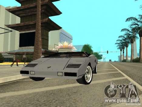 Lamborghini Countach LP400 for GTA San Andreas right view