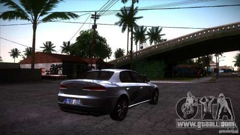 Alfa Romeo 159 Ti for GTA San Andreas back view