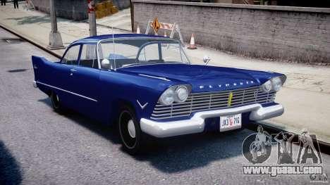 Plymouth Savoy Club Sedan 1957 for GTA 4 back view