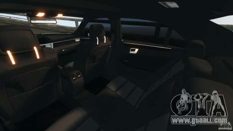 Mercedes-Benz E63 AMG 2010 for GTA 4 inner view