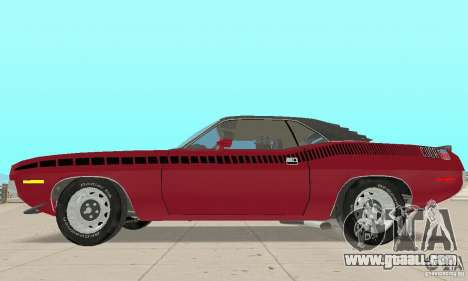 Plymouth Cuda AAR 340 1970 for GTA San Andreas back left view