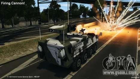 Stryker M1134 ATGM v1.0 for GTA 4 upper view