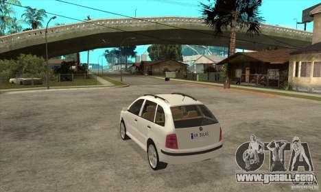 Skoda Fabia Combi for GTA San Andreas back left view