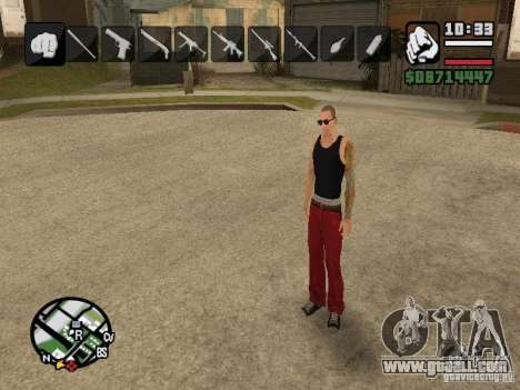 Icons when changing weapons for GTA San Andreas second screenshot
