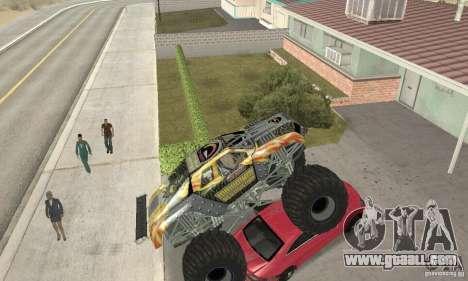 Monster Truck Maximum Destruction for GTA San Andreas inner view