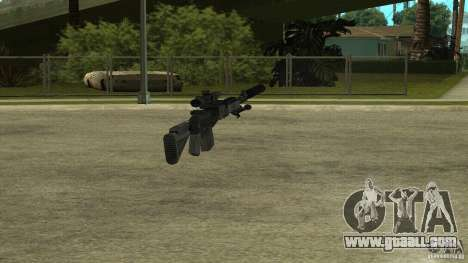 MK14 EBR with a silencer for GTA San Andreas fifth screenshot