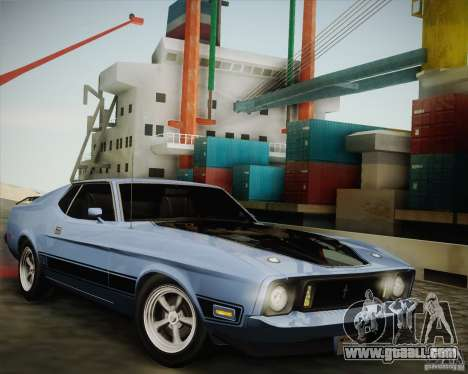 Ford Mustang Mach1 1973 for GTA San Andreas back left view