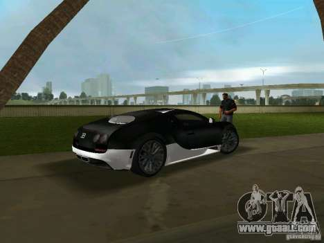 Bugatti Veyron Extreme Sport for GTA Vice City back left view