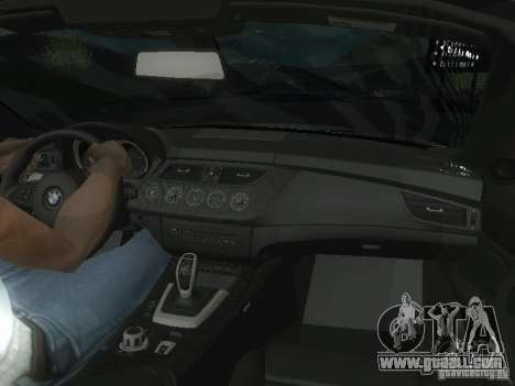 BMW Z4 for GTA San Andreas interior