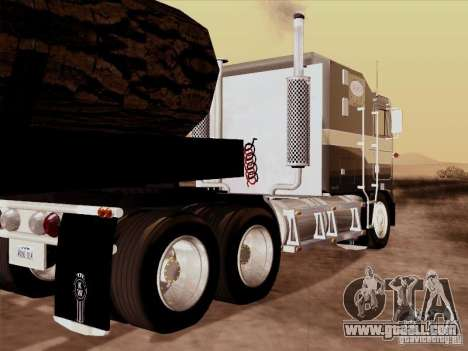 Kenworth K100 Aerodyne for GTA San Andreas inner view