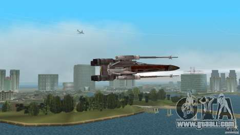 X-Wing Skimmer for GTA Vice City back left view