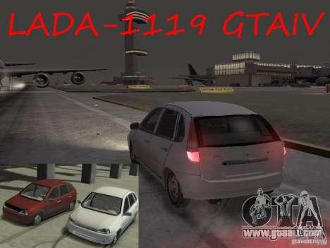 Vaz-1119 Kalina for GTA 4 left view