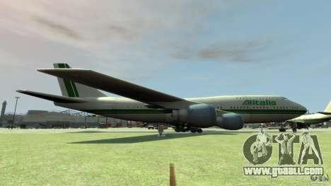 Alitalia for GTA 4 left view