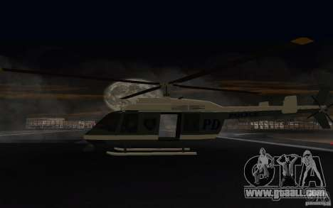 GTA IV Police Maverick for GTA San Andreas right view